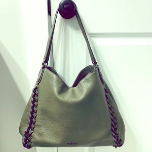 Beautiful Hobo Coach bag with gunmetal branding